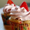strawberry cupcakes - and how to fix buttercream frosting