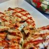 garlic basil chicken with caprese salsa
