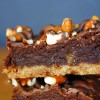 salty caramel pretzel brownies