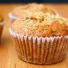 whole wheat roasted banana muffins