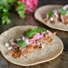 slow-cooker carnitas tacos with quick-pickled onions