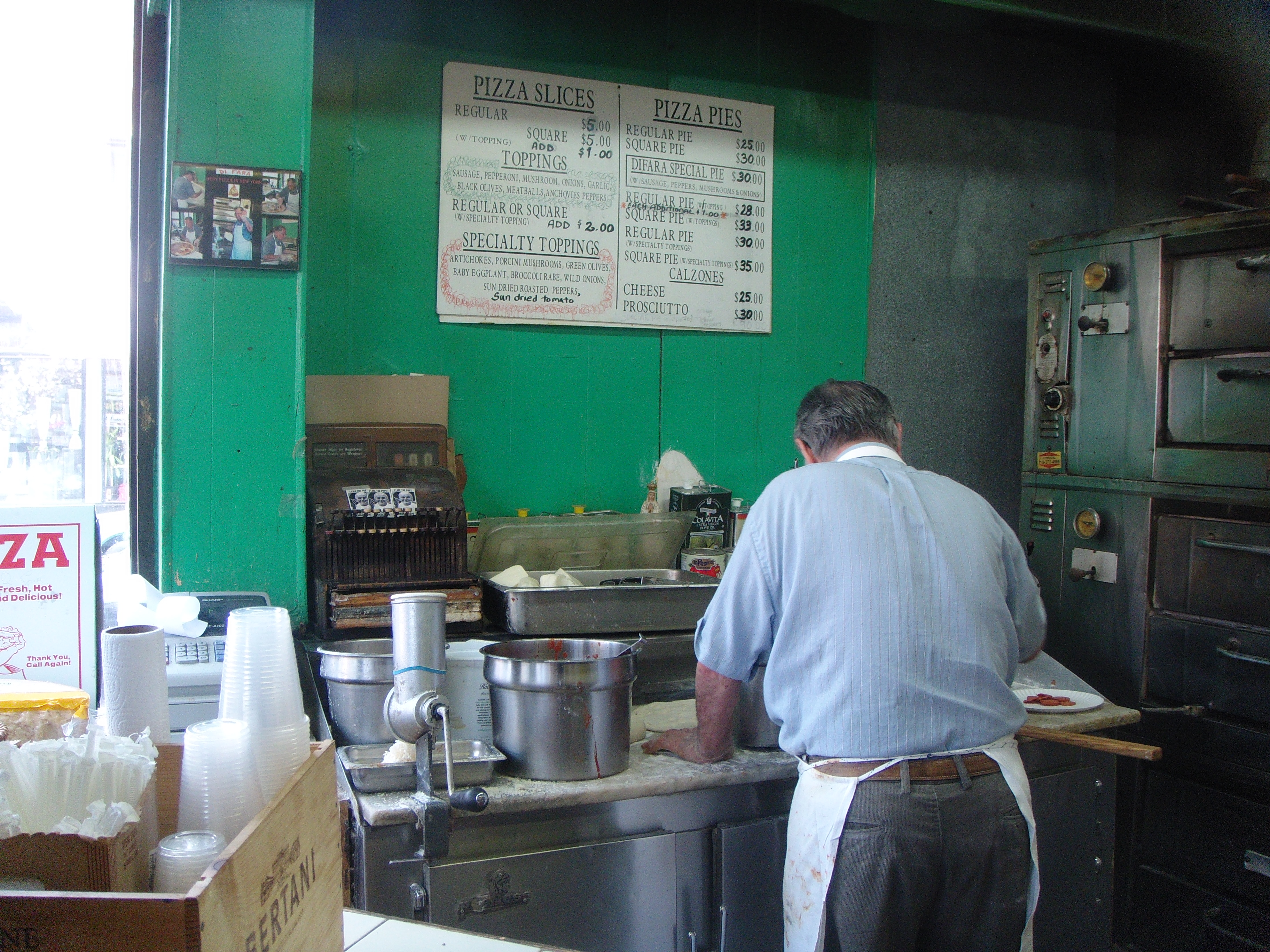 This is Di Fara - No really, just this guy and his son making pizzas nonstop
