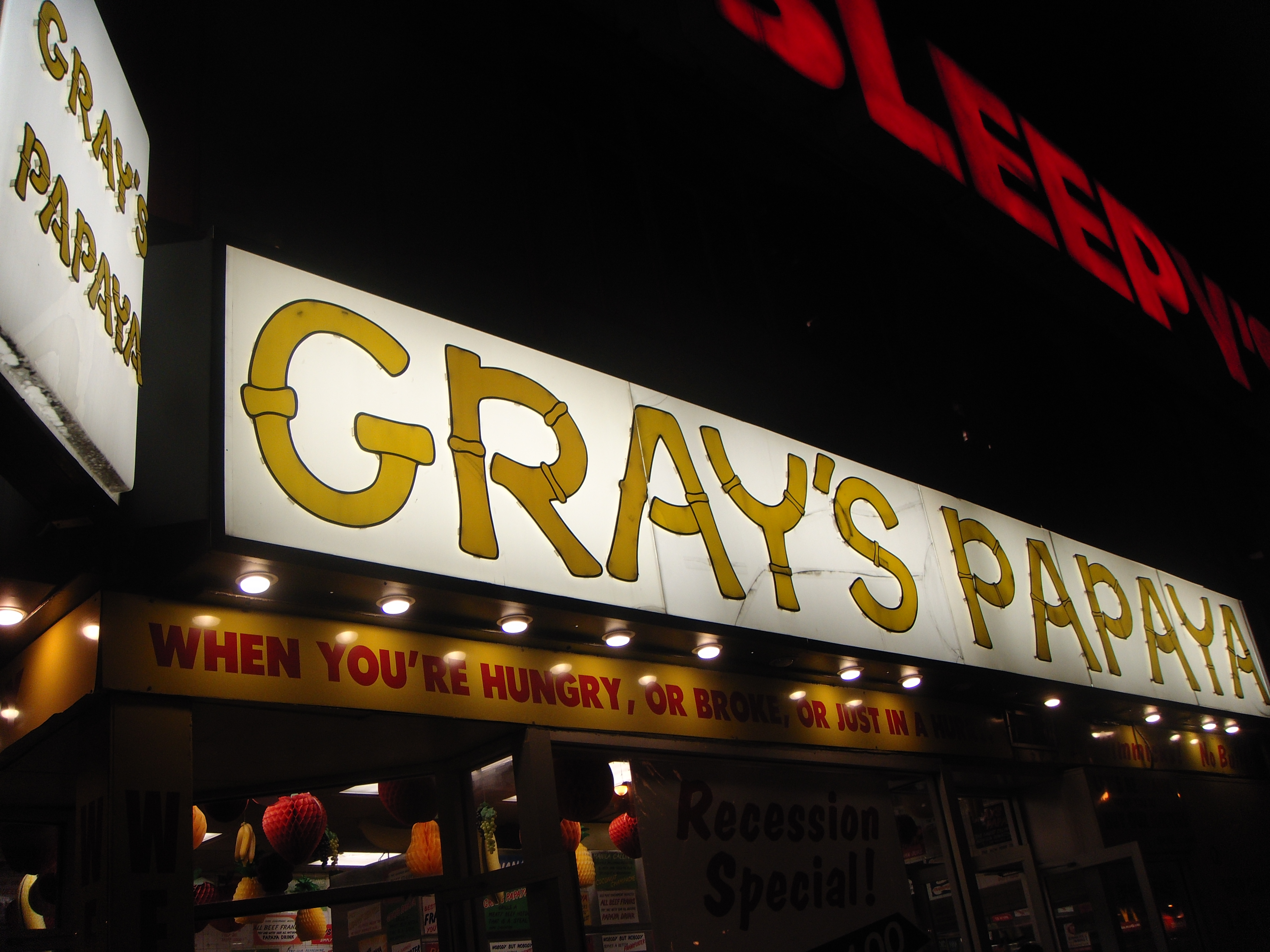 Gray's famous hot dogs