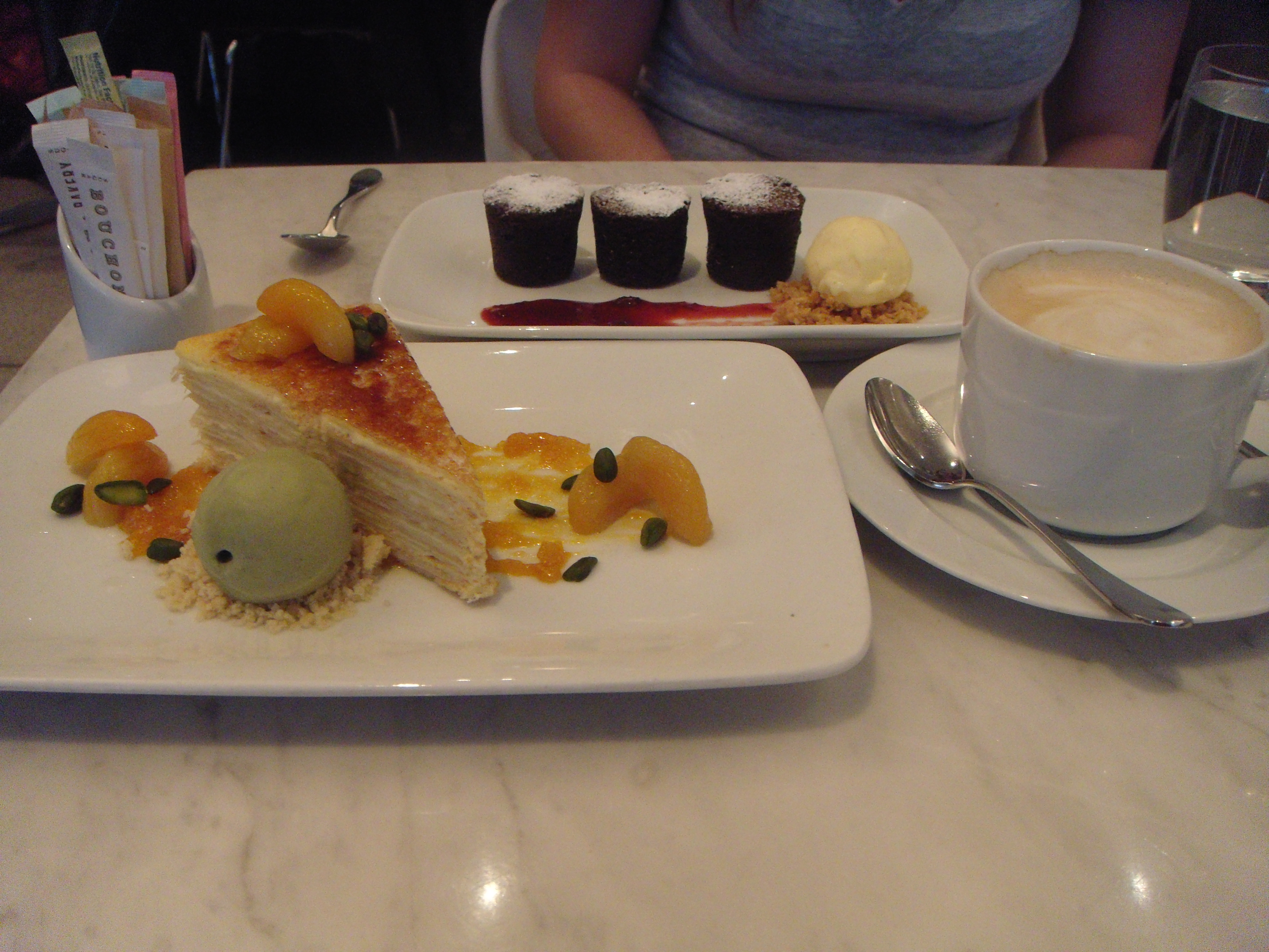 Bouchon Desserts - Crepe cake and Bouchons!