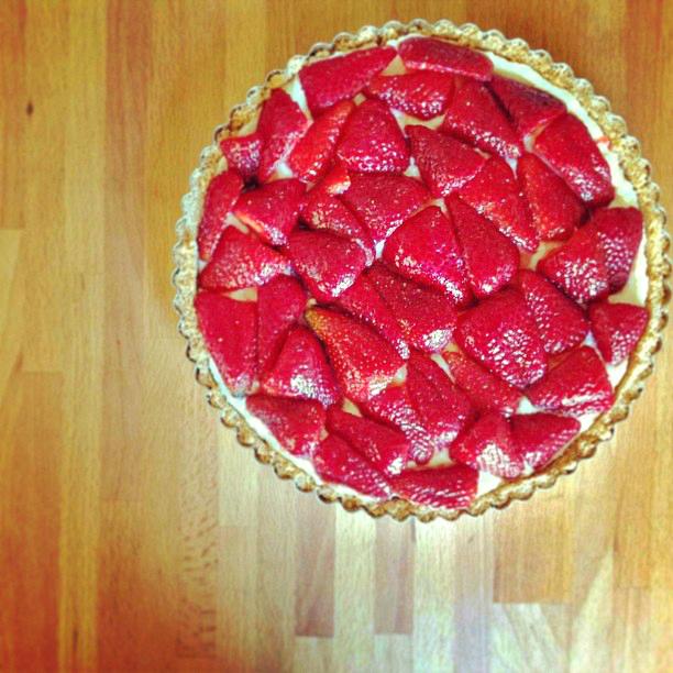 instagram strawberry tart