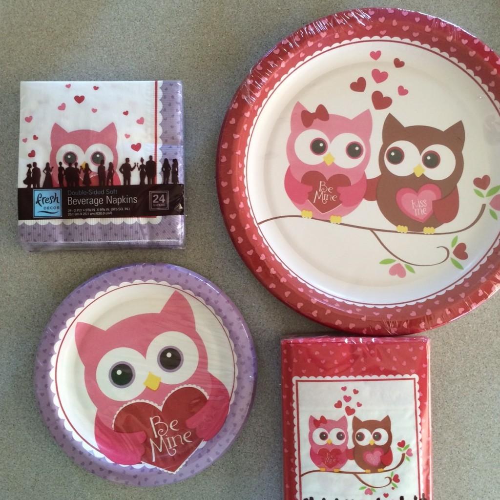 owl plates valentine