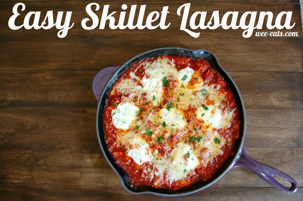 easy skillet lasagna | wee-eats.com
