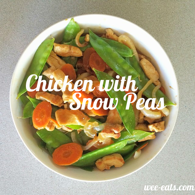 chicken with snow peas | wee-eats.com