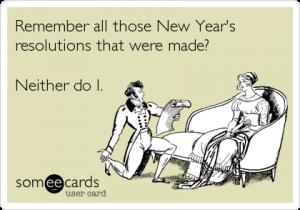 new years resolution ecard