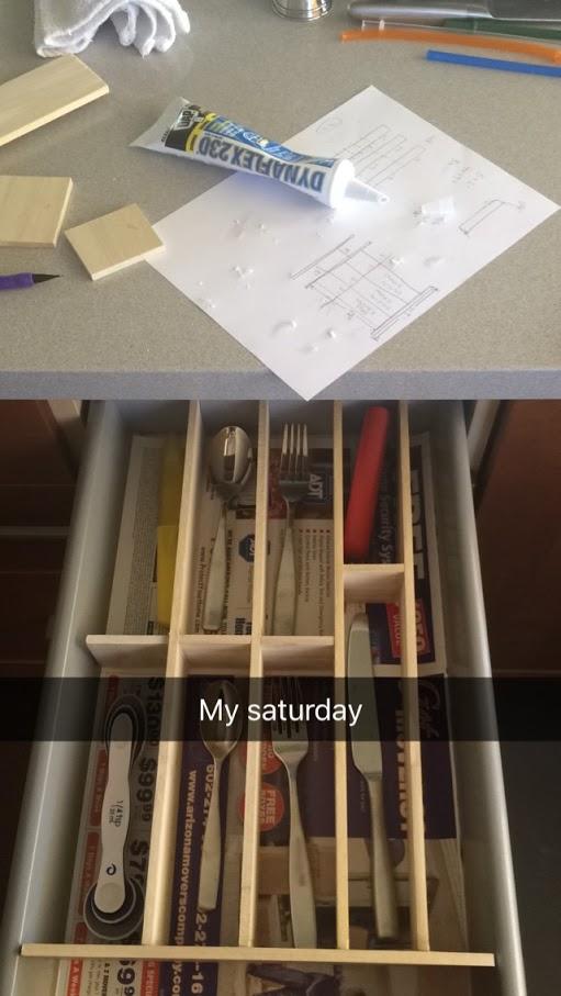 drawer during